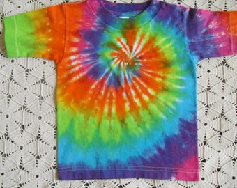 Tie dye baby, toddler, youth shirts- Neon Rainbow Spiral (All sizes will be dyed and shipped within a week) - 275