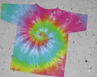 Tie dye 2 Toddler shirt- BEAUTIFUL Pastel Rainbow Spiral