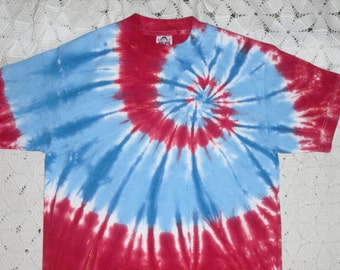 Tie dye adult small shirt - USA Patriotic colors (All other other sizes can be dyed and shipped within a week!!!)