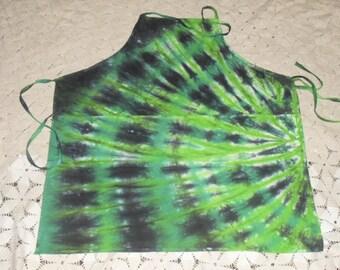 "Tie dye Adult Grande apron - "" Go Green"""
