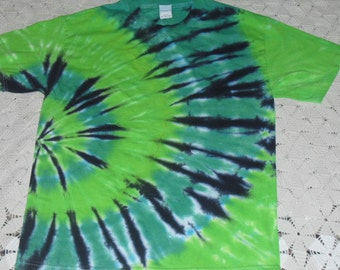 """Tie dye large shirt  """"Go Green"""" for St. Patrick's Day """"Pinch Protection"""""""