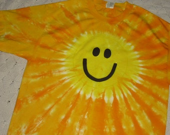 Tie dye shirt, ADULT XL (2) ;  Smiley Face!!