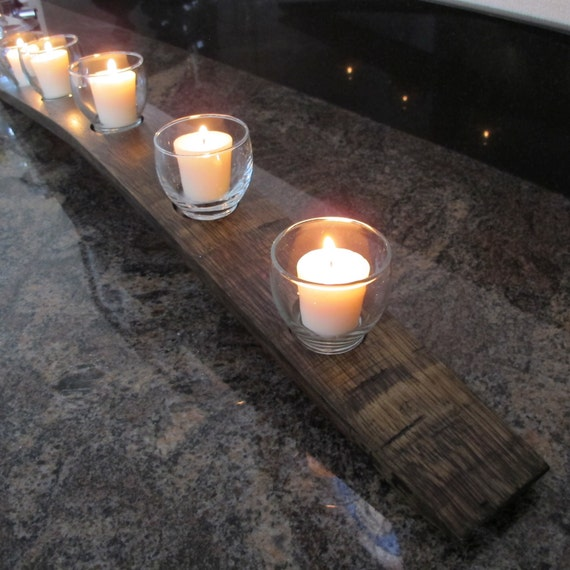 Votive Candleholder Made from a Recycled Wine Barrel