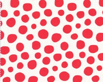 Fabric PEBBLE STONE Coral Woodland Delight Paula Prass Michael Miller Polka Dots Quilting Sewing