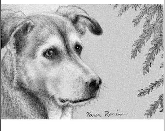 aceo art print dog