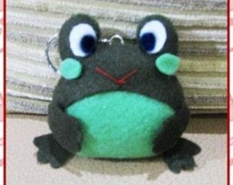 Frog Key chain Felt