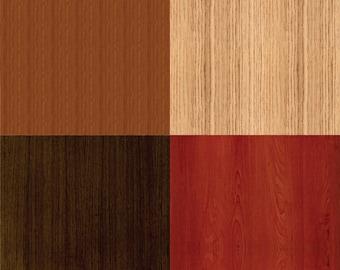 """Wood Texture (No. 1) Digital Scrapbook Paper Pack - 8 Papers - 300 DPI - 12"""" x 12"""""""