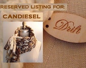 RESERVED LISTING for Candiesel: the Delaney Fringe Cowl Scarf in fuzzy brown, creams, and tans