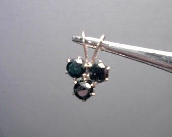 Black Diamond clover pendant