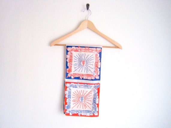 vintage 1970s neckerchief scarf // frankie welch // MOTHERS DAY GIFT
