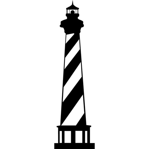 Lighthouse with 6 Shells Wall Art Decal Set