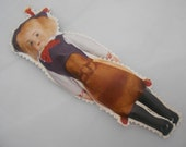 1930s Oil Cloth Doll Sweden