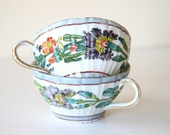 handpainted tea cups
