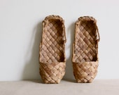 vintage french straw shoes
