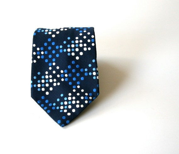 vintage 60s necktie  polka dot cravate