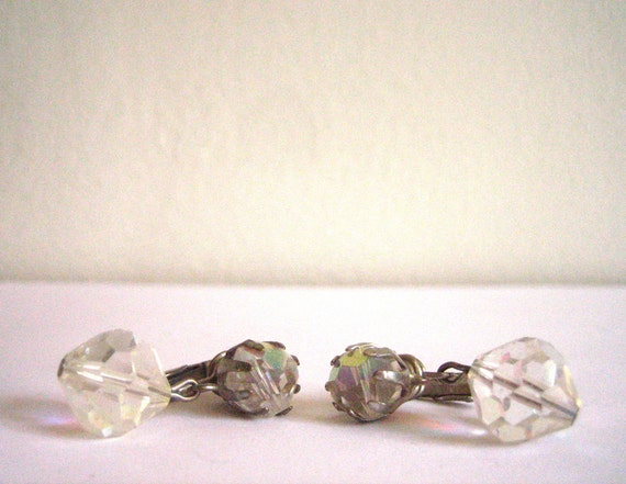 crystal clip on earrings