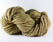 Thick and Thin Yarn Slub TTS(tm) Handdyed  Fine Merino 6616 Fawn