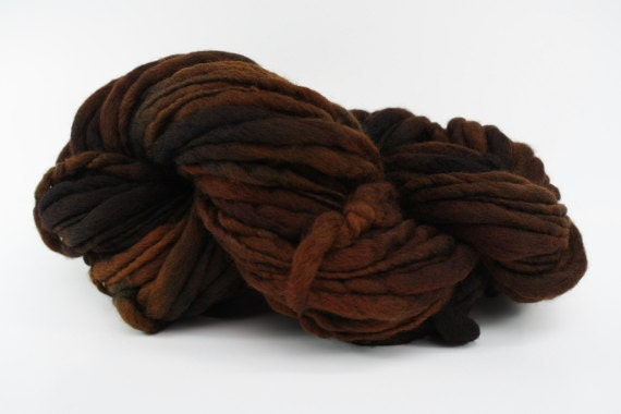Thick and Thin Yarn Slub TTS Fine Merino 3337 Dark Chocolate Super Bulky