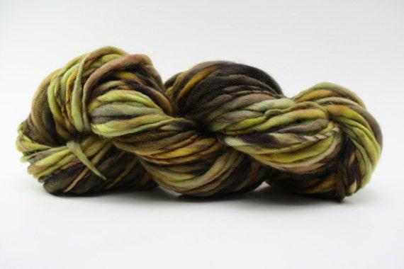 Thick and Thin Yarn Slub tts Handspun Hand dyed XLR gctm A01a