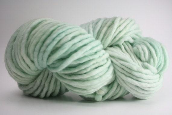 Single Ply sp Super Bulky Yarn  Hand dyed Merino 44sp12008 Mentha