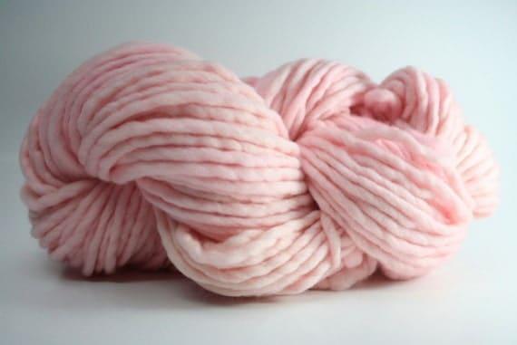 Single Ply sp Super Bulky Yarn  Hand dyed Merino 44sp12002 Petal