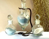 "Personalized Unity Sand Ceremony Set ""Amphora""  with glass stoppersStyle"