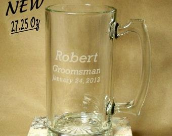 Personalized 27 oz. Giant Beer Mug