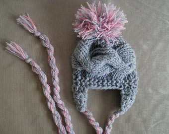 Baby Girl Hats Newborn Hats, Baby Hats Photo Prop, Infant Hats, Baby Knit Hat, Baby Girl Knit Hats, Baby Girl Pom Pom Hats