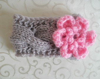 Baby Crochet Headband Newborn Crochet Headband Baby Girl Crochet Headband, Infant Crochet Headband Flower Baby