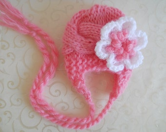 Baby Knit Hat - Baby Girl Knit Hat - Knit Baby Hats - Knit Newborn Hat - Baby Winter Hat