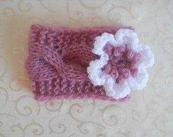 Knit Baby Headband, Baby Knit Headband, Baby Girl Flower Headband, Newborn Knit Headband, Knit Infant Headbands, Baby Knit Flower Headband