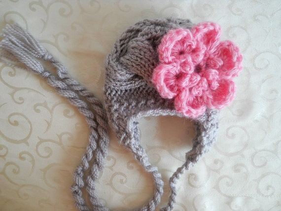 Newborn Knit Hats, Knit Baby Hat, Baby Hats, Baby Girl Hats, Knit Newborn Hat, Photo Prop Baby Hat, Newborn Girl Hat