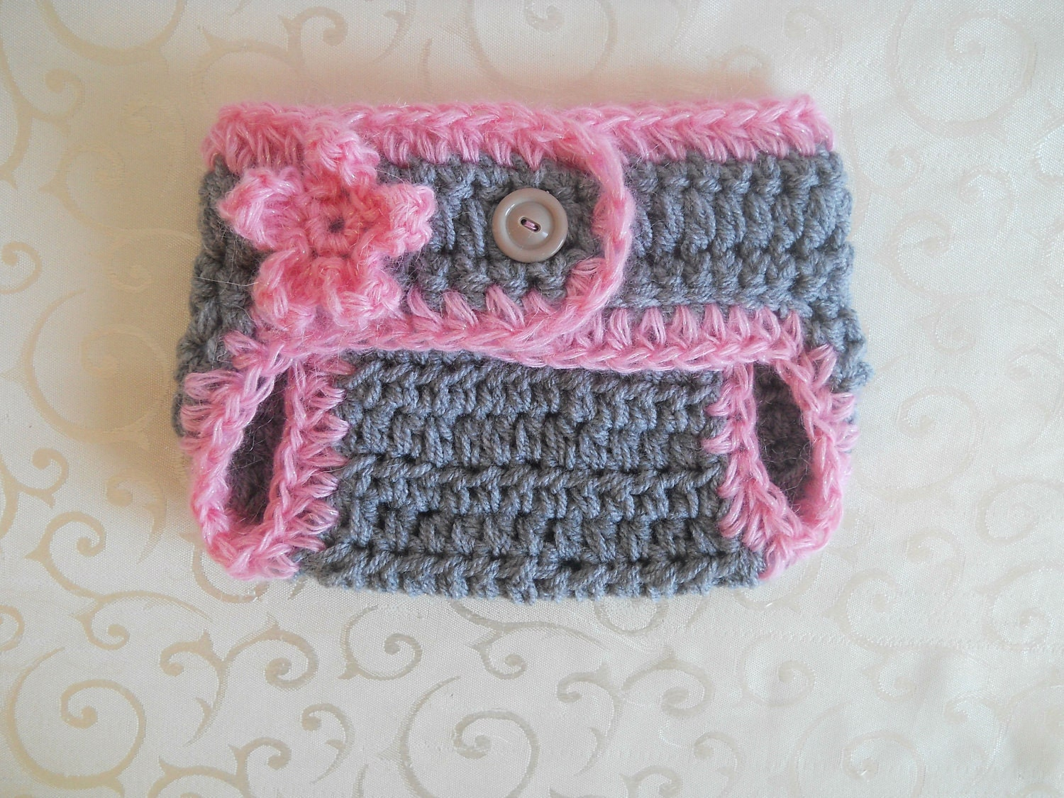 Crochet Diaper Cover Baby Girl Diaper Cover Newborn Girl