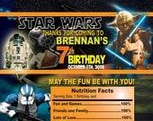 Star Wars Theme Birthday Party digital candy bar wrapper