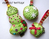 Christmas tree decoration - crochet patterns - 3 pieces in one:-)
