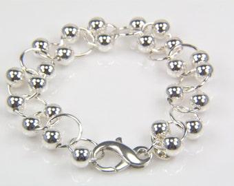 Sterling Silver Ball Bracelet - BSK Designs - Fine Jewelry