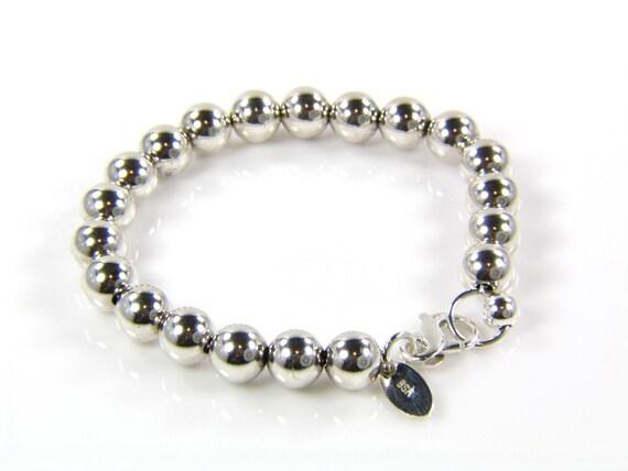 Sterling Silver Bracelet - Sterling Silver Ball Bracelet