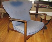 RESERVED for Oliver DANISH Modern Wing Chair - SELIG Design - Original - Needs Your Touch