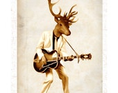 Rock Deer - Coco de Paris - Art print - handsigned