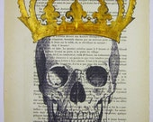 Acrylic paintings Illustration Original Prints Drawing Giclee Posters Mixed Media Art Valentine's Day:The King is dead