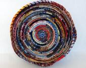 Large Round Fabric Bowl Basket - Bohemian Wave