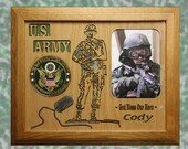 U.S. Army Personalized Military Photo Frame, Personalized Picture Frame
