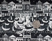 Half Yard Venice in black, Grand Tour, Victoria and Albert Museum Collection for David Textiles