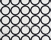 Half Yard Metro Living Circles in White, Robert Kaufman, 100% Cotton Fabric