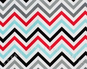 LAST PIECE Half Yard of Remix Zig-Zag in Celebration, by Ann Kelle for Robert Kaufman Fabrics, 100% Cotton Fabric