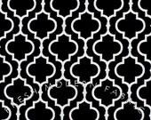 Half Yard Tiles in Black, Metro Living, Robert Kaufman, 100% Cotton Fabric