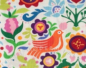 LAST PIECE Fat Quarter Folklorico La Paloma in Bright by Alexander Henry, 100% Cotton Fabric
