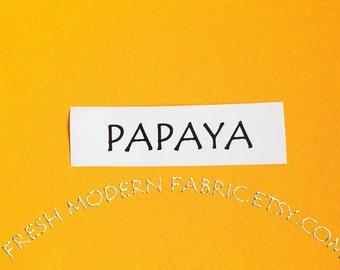 One Yard Papaya Kona Cotton Solid Fabric from Robert Kaufman, K001-149