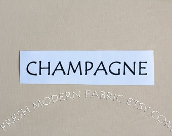One Yard Champagne Kona Cotton Solid Fabric from Robert Kaufman, K001-1069