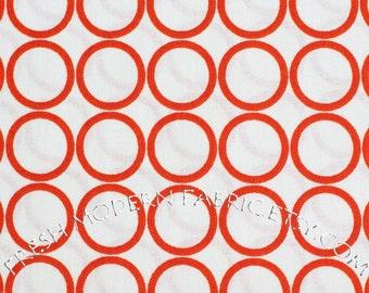 Half Yard Metro Living Circles in Carrot, Robert Kaufman, 100% Cotton Fabric